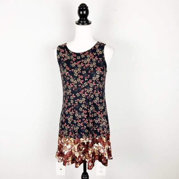 LOGO Layers Floral Printed Tunic Top Sleeveless
